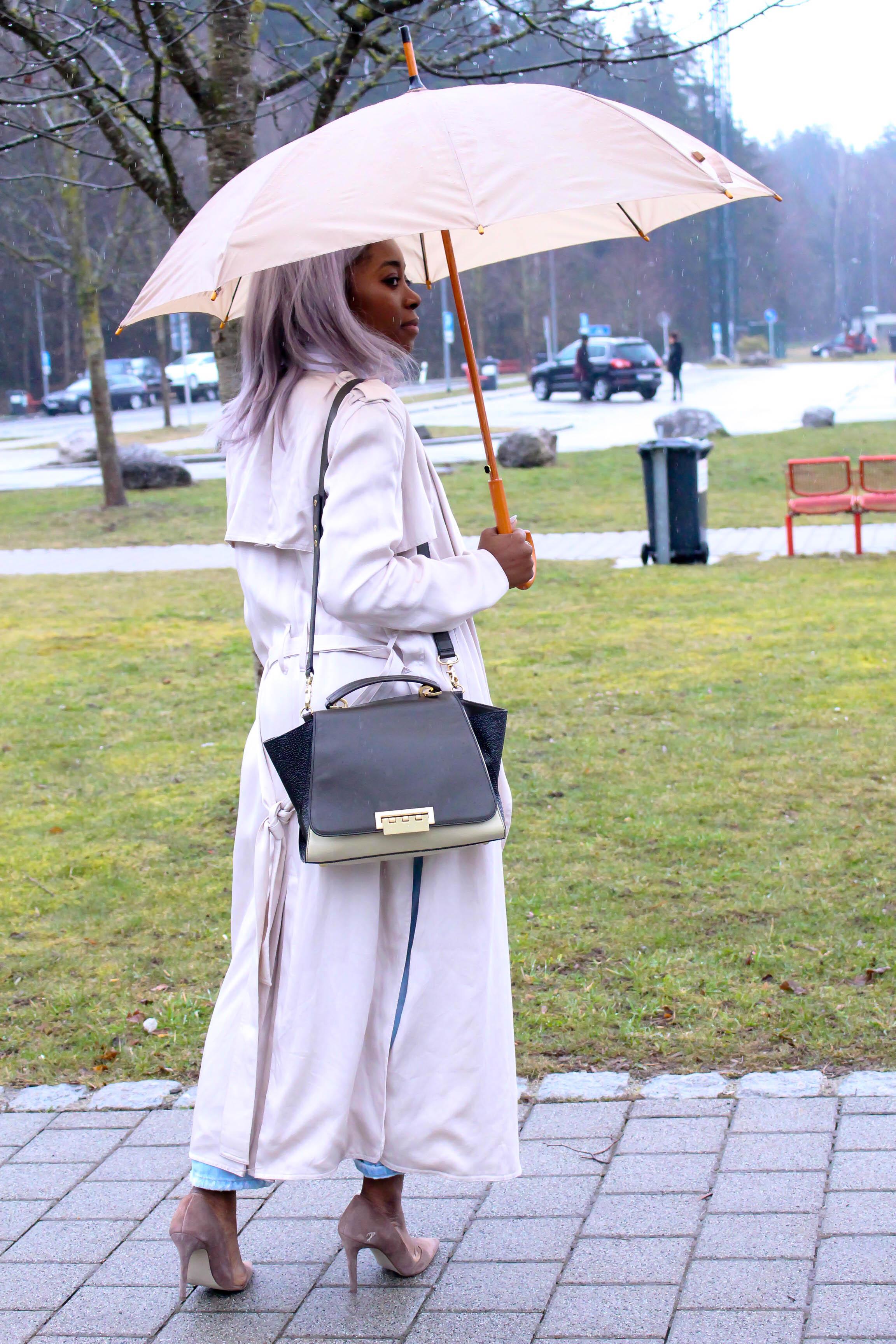 Style, Fashion, Trenchoat HM, Bag Zac Posen